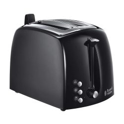 Toptopdeal-fr Russell Hobbs Toaster Grille-Pain Fentes Larges - Noir 22601-56 Texture