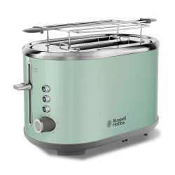 Toptopdeal-fr Russell Hobbs Toaster Grille Pain, Fentes XL, Cuisson Ajustable - Vert 25080-56 Bubble