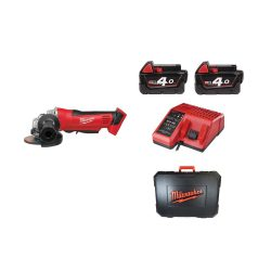 toptopdeal Milwaukee 4933441300 – 402 C Meuleuse 18 V 4,0 Ah LITHIUM Disque 115 mm