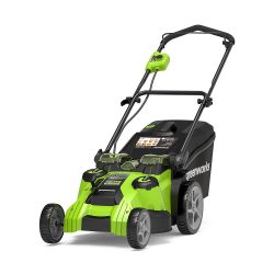 toptopdeal Greenworks Tondeuse à batterie double lam