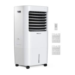 toptopdeal Pro Breeze 10L Portable Air Cooler, Fan, Humidifier, 3 Speeds, LED Display & Remote Control -...